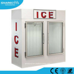 Congelatore commerciale del Merchandiser del ghiaccio dello scomparto di immagazzinamento nel ghiaccio