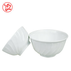 Logo de gros d'usine de poterie de patrons de gris de la vaisselle bol pour l'alimentation n° D2-6