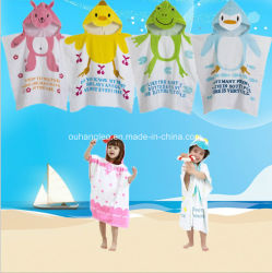 昇進のフード付きの子供/赤ん坊/子供の綿の浴衣/パジャマ/Nightwear/ポンチョまたは浴室タオル