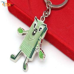 En PVC souple de haute qualité personnage de dessin animé personnalisé chaîne de clés en caoutchouc