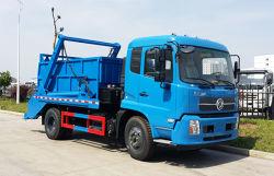Dongfeng 4X2 5m3 건너뜀 굴착기 로더 패물 수집 트럭 그네 팔 쓰레기 콘테이너 위생 트럭