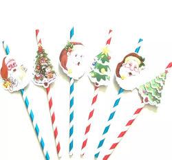 Рождество бумага трубочки, питьевой соломы на Рождество