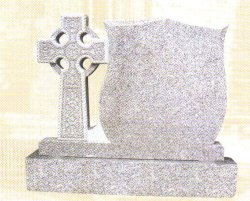 Pedra natural granito cinza Monumento Tombstone SF-046 para Cremetery Garden