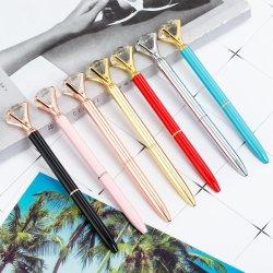 Настраиваемый логотип крупные алмазные шариковым пером для многоцветной металлические ручки управления перьев рекламы канцелярские Q01
