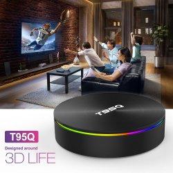 新しいベストセラーのビデオアンドロイド8.1のスマートなAmlogicのインターネットの受信機2.4G 5g WiFi T95q Amlogic S905X2 4G 32g HD TVボックスWiFi