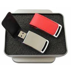 Creative unidad Flash USB de cuero volteado logotipo personalizado para empresas regalos