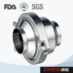 Uma maneira Flow-Triclamp sanitárias trevo da válvula de retenção DIN em aço inoxidável