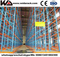 Industrieel magazijn zwaar gebruik zeer smalle gangpad opslagrek systeem /VNA-rek