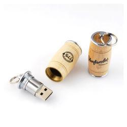 Marchio di legno di abitudine del contenitore di USB di prezzi più bassi 2019 della noce del piccolo della benna di figura del USB azionamento all'ingrosso dell'istantaneo