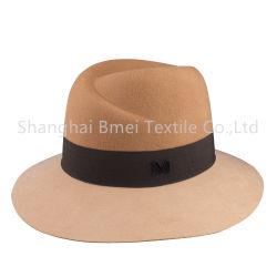 Protezioni larghe dei cappelli superiori della fedora del bordo delle lane su ordinazione alla moda del partito delle donne di alta qualità