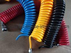 경쟁 제품 제조업체 고압 PVC 실리콘 PA12 PA6 나일론 확장가능 스프링 튜브 플렉시블 고무 에어 브레이크 호스