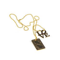 Frauen-Form-Schmucksache-Edelstahl-Anhänger-Halskette