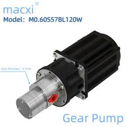 0.6 mL/Rev 高速移動ステンレススチールコーティング染料塗料インク マイクロ磁気ドライブギヤポンプ M0.60s57bl120W