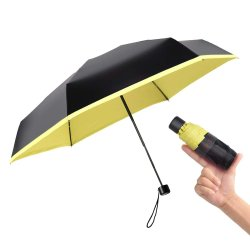 Paraguas plegable de UV, Personalizado paraguas promocionales, Mini Pocket Sun & Rain Paraguas, sombrillas, dama