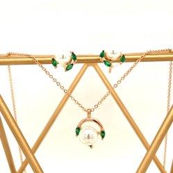 925 Sterling Silver 10K 14K or 18K Ensemble cadeau Fashion Bijoux en perles Bijoux Set