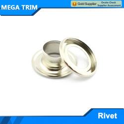 Occhiello rotondo del merletto di pattino del metallo dell'acciaio inossidabile