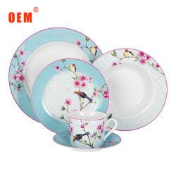 A-GRADE 20pcs dîner ronde en céramique vaisselle en porcelaine