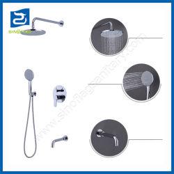 ボックスを隠すシャワーのコックを3つの機能降雨量の滝キット埋め込みなさい