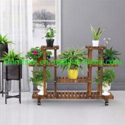 4 support de fleur en bois de la couche de roulement plante fleurs Présentoir