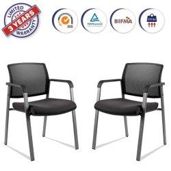 Pile du bras de maillage des chaises avec siège en tissu rembourrés pour l'église de la réception de l'école 2 Pack (XDD1D)