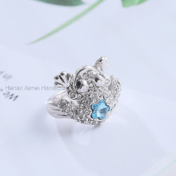 Fashion Crystal Animal Ring Charmante Sieraden Ring