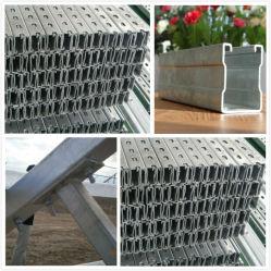 Koudgewalst Geperforeerd Staal voor de Steun van de Zonne-energie met de Gegalvaniseerde Oppervlakte van de Hete ONDERDOMPELING