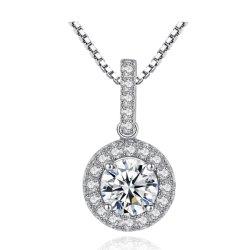 925 Sterling Silver Colar com Sparkle AAA Zircónia Cúbicos Diamond Jóias do pescoço