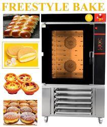 Gás de Ar Quente Industrial Forno de convecção para cozer pão na padaria equipamentos (YLB-10GIT)