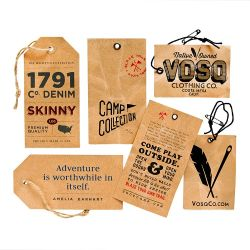China último projeto personalizado papel especial com hot stamping lasca de roupa pendurada Tags