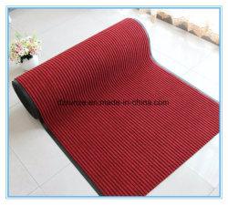 Alfombra de la manta del Doormat del forro del PVC de la superficie del fieltro del poliester