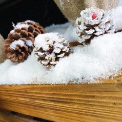 Décoration de Noël Les jouets instantanée de la neige blanche neige artificielle synthétique