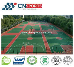 Le sport étage revêtement en caoutchouc de silicone/peinture polyuréthane pour le basket-ball et volley-ball/court de badminton