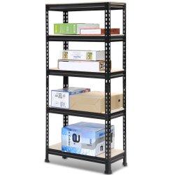 5 уровня 1800X900X450мм пользовательские размеры для тяжелого режима работы стали гараж стеллажей для хранения