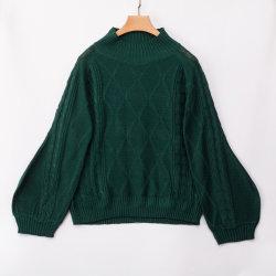 Hoogste Bovenkleding van de Laag van de Sweater van de Kraag van vrouwen de helft-Hoge lang-Sleeved Losse