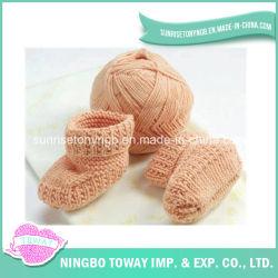 Patrones que hacen punto de estambre Hilados de algodón Fácil bebé libre de los calcetines