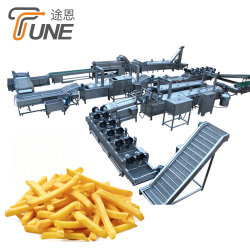 100/200/300/500/1000kg All'Ora Congelato French Fries Processing Machine Potato Chips Production Line