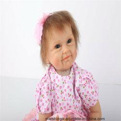 Cuerpo de algodón de silicona 55 cm de muñecas de juguete para niños