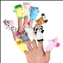 Bonitinha recheadas de ensino personalizado fantoche de dedo de pelúcia