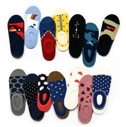 Kleurrijke Knitting Pattern Funky Happy Ankle Bulk 100% Cotton Ankle Sokken Op Voorraad