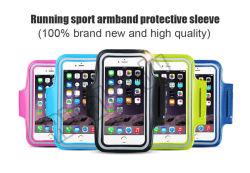 Bracciale corrente di sport della cassa di cuoio impermeabile dell'unità di elaborazione per Samsung per la fascia di braccio corrente del telefono di sport di iPhone 6 con elastico