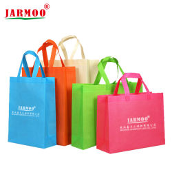 印刷されるEcoの昇進の卸し売り友好的なFoldable再使用可能な習慣広告するショッピングハンド・バッグの安いNon-Woven袋(JMWBAG)を