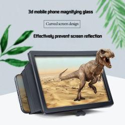 Bildschirm-Vergrößerungsglas für Smartphone 2020 neuer Film-videovergrößerungsglas-Digital-Verstärker des Aufsteigen-Handy-3D HD mit faltbaren Halter-Standplatz-Handy-Zubehör