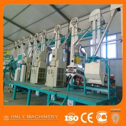 Fufu Ugali를 만들기 위한 소형 30t/24h 마이즈 밀링 기계