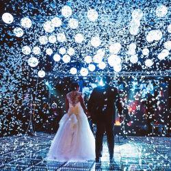 3D LED RGB de espejo de la luz de la pista de baile para la fiesta de bodas Discoteca Bar Eventos