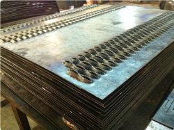 Maglia antisdrucciolevole galvanizzata della grata a strati perforata/passaggio pedonale del metallo della bocca 5mm del coccodrillo