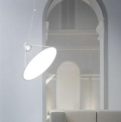 قلادة مستديرة من الشمال مدلاة خفيفة خفيفة ضوء ضوء ضوء ضوء حديث من الفولاذ المقاوم للصدأ مصباح الإضاءة المتدلية Villa Hall Suspension Lamp (WH-AP-138)