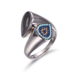 De nouveaux designs 925 Sterling Silver avec anneau ouvert Turquoise