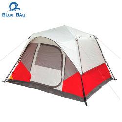 Bluebay China tenda 4 Pessoa à prova de vento, família de Dupla Camada Camping tenda