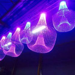 관례 어떤 크기 LED 광섬유 샹들리에 결정