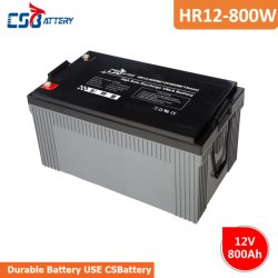 Csbattery Hr12-800W 12V 260Ah Power-Storage AGM Batterie pour scooter Electric-Vehicles//bicyclette/Les pompes/Power-Tools Engine-Start/
